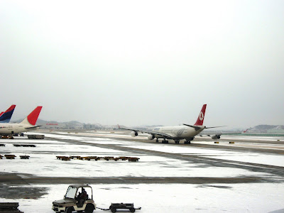 Icy Seoul Airport