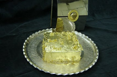 The Sultan's Golden Cake in Ciragon Palace Kempinski Istanbul