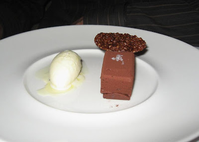 Dark chocolate hazelnut feuillentine at Manresa