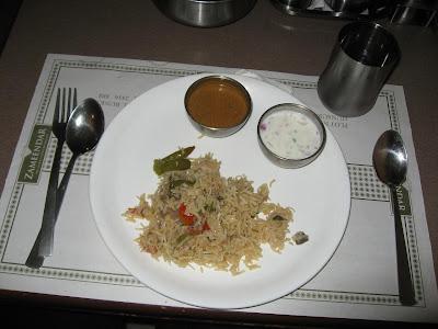 Biryani at Zameendar Chennai
