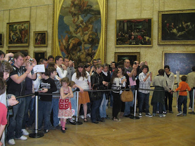Crowds in front of the Mona Lisa, Louvre