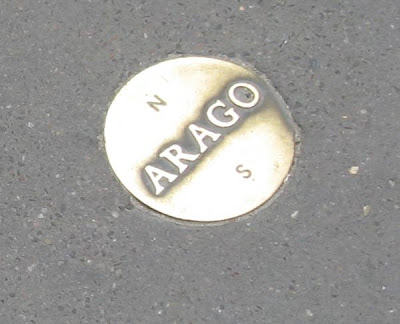 Arago disks tracing the Paris Meridian