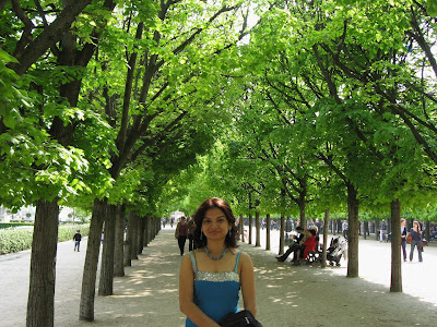 In the gardens of Palais Royale
