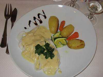 Manta Ray with citrus sauce and potato fondant