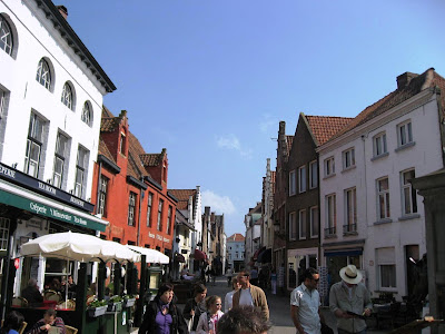Medieval street in Bruges