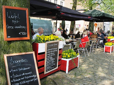 Beautiful outdoor restaurant in Bruges