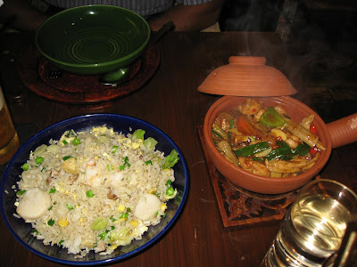 Seafood Fried Rice with Claypot Chicken in China House Mumbai