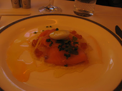 Salmon and caviar starter