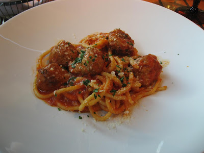 Meat-ball Spaghattoni at Quattro