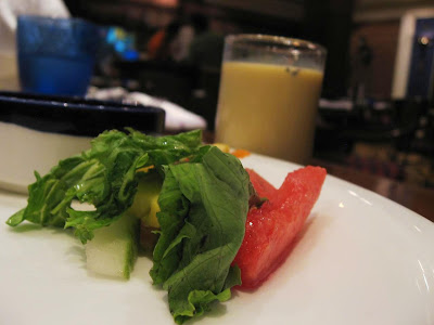 Salad and Badam Milk at TGKF