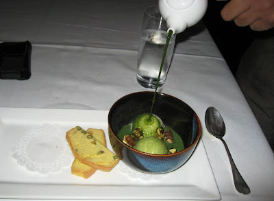 Green tea affogato at Ame