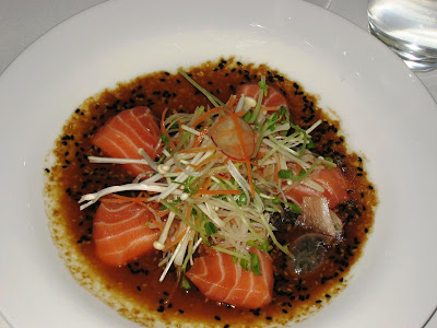 Salmon Sashimi at Harlan's Hong Kong