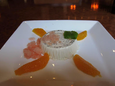 Orange Blossom Panna Cotta at Chez Papa Resto