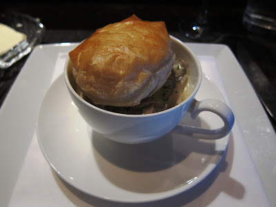 Poached oyster Potpie at Ame