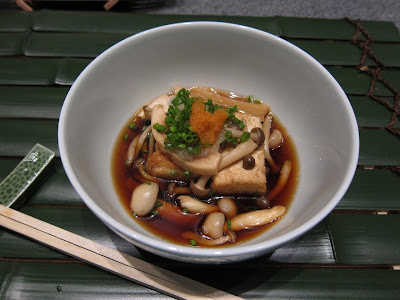 Japanese mushroom and tofu soup at Edo Bangalore