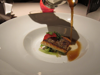 Fish entree at Fifth Floor