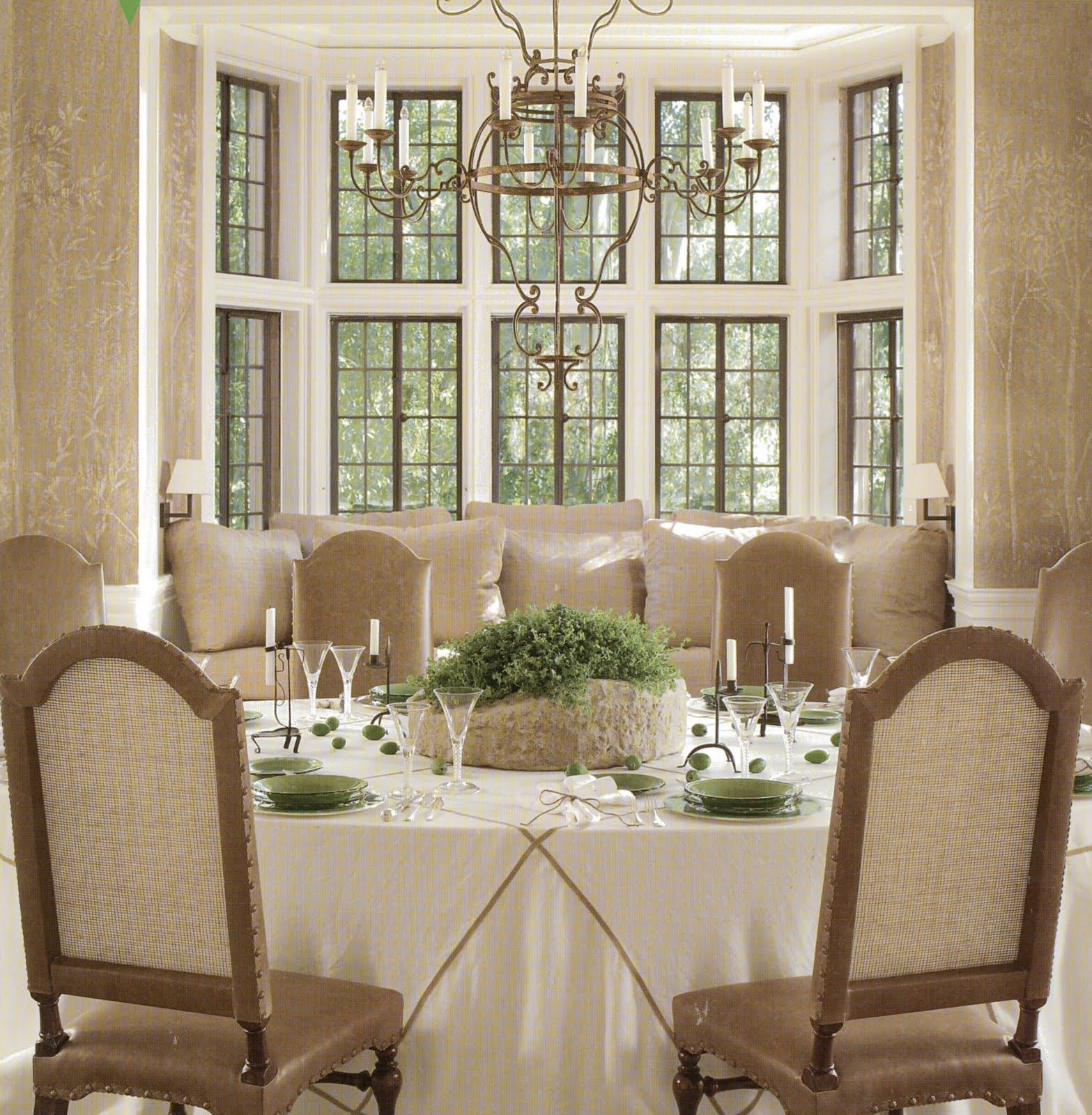P s i love this ideas for dining room - Ideas of window treatments for bay windows in dining room ...