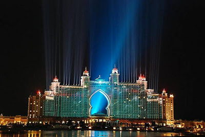 Hotel Atlantis Lightshow Trial Run