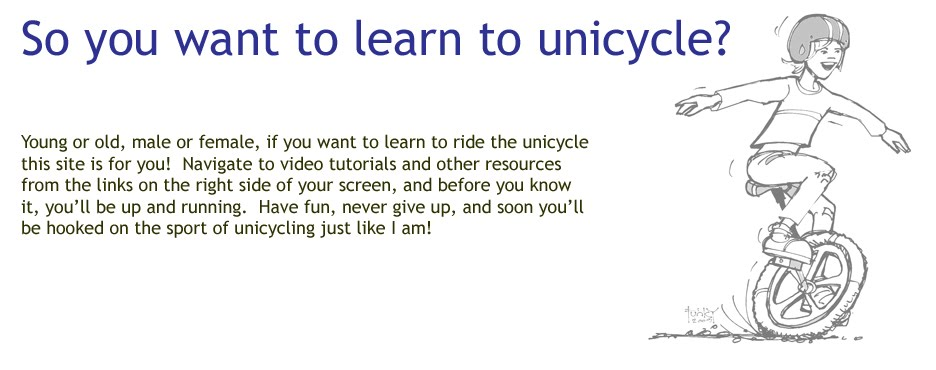 So you want to learn to unicycle?