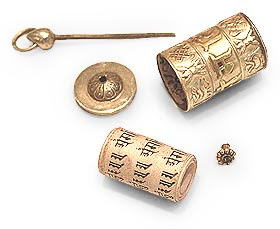 Buddhist Prayer Wheel Pendents