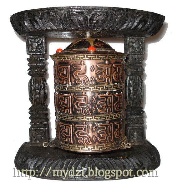 Buddhist Wooden Prayer Wheel