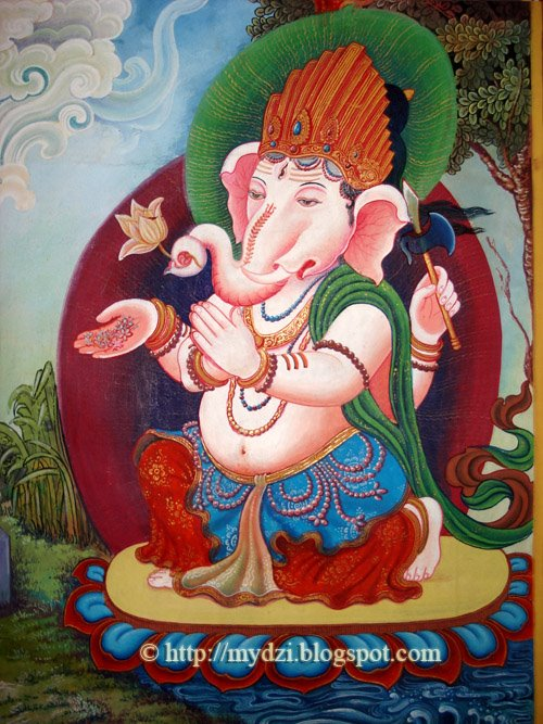 Ganesha Thanka Detail