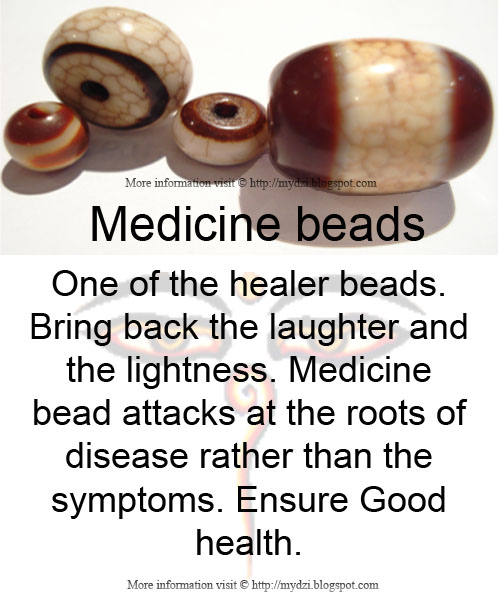 Medicine beads Meaning Card