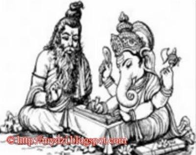 Ganesha with sage Vyasa