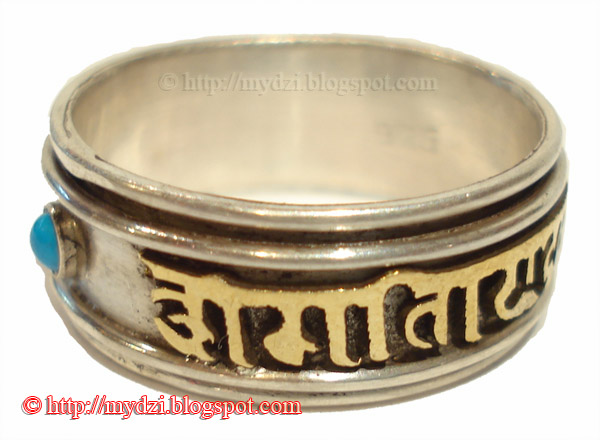 Buddhist Om Mani Padme Hum Ring