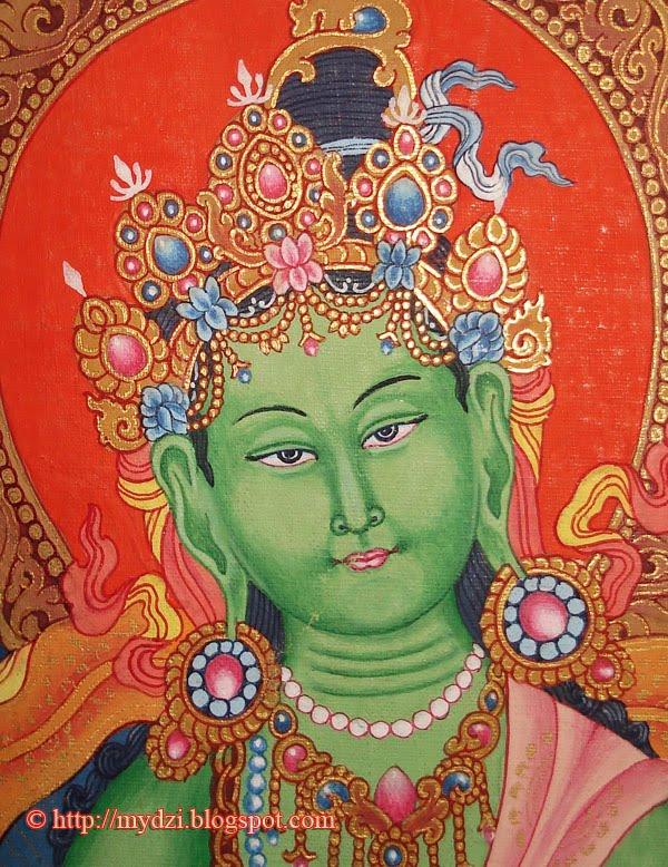 Newari Green Tara Thanka