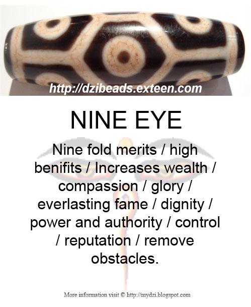 Nine Eye Dzi Meaning Card
