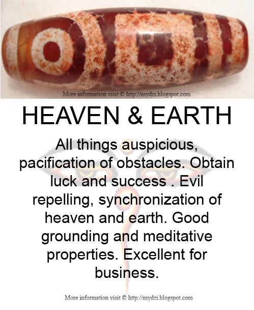 Heaven and Earth Dzi Meaning Card