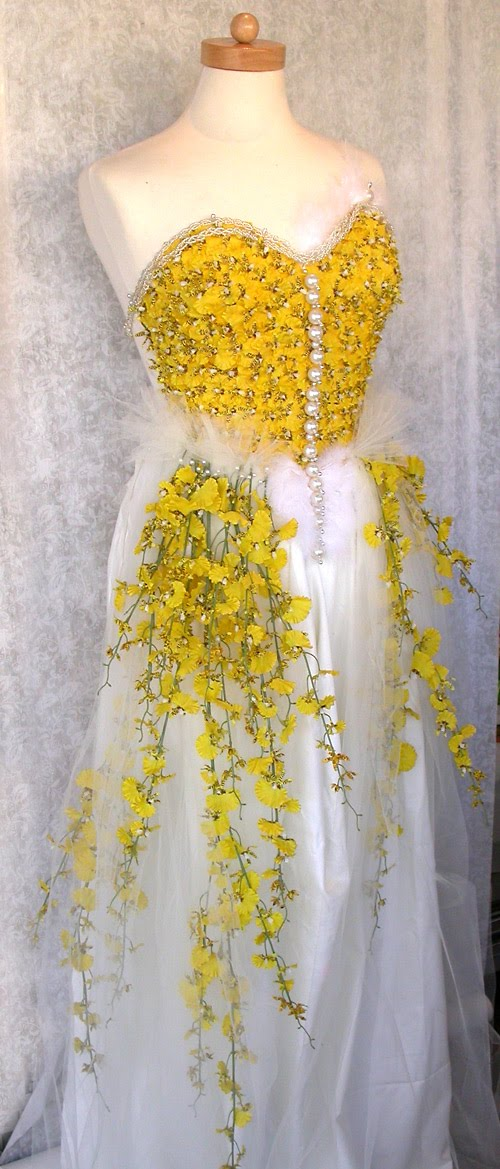 Yellow Orchid Wedding Dress Have a lovely Thursday