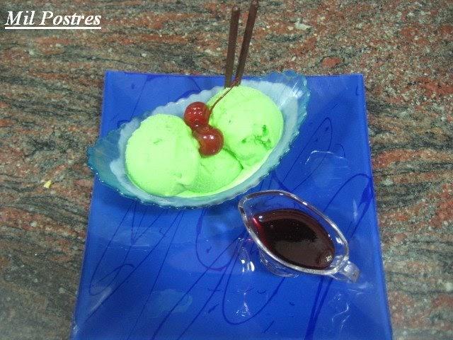 Mil postres helado de manzana verde - Sorbete de manzana verde ...