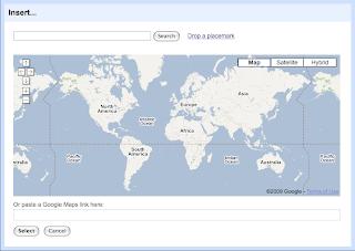 Map insert dialog