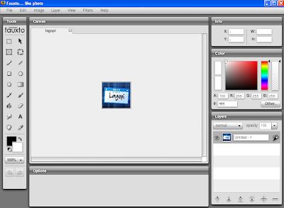 working screen