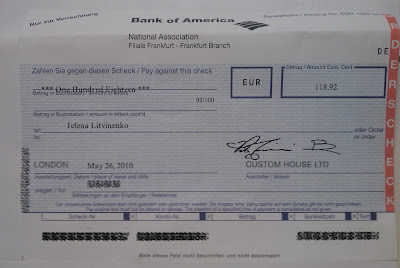 how to write a check for 1500