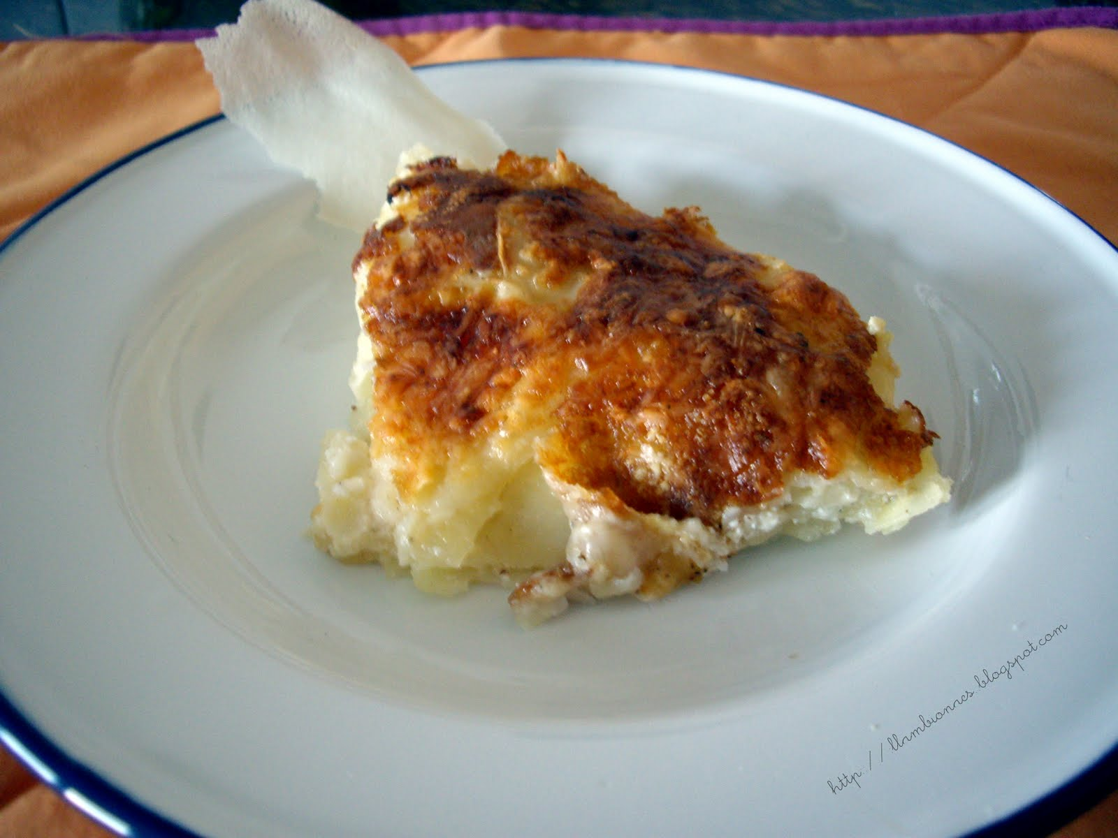 Pastel de patata ó Gratin Dauphinois | Llambionaes