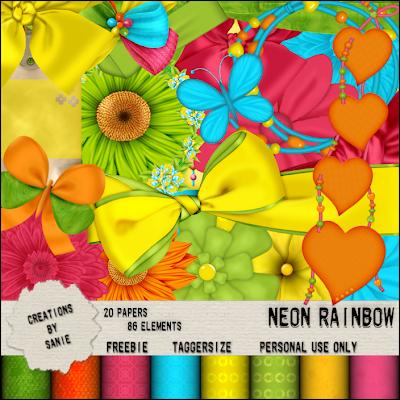 http://creationbysanie.blogspot.com/2009/08/neon-rainbow.html