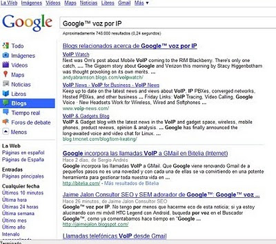 Google™ busqueda instantanea