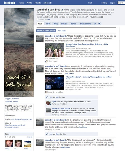 Bible Devotional on Facebook