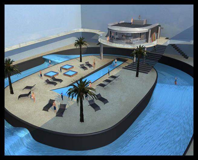 Sordos surf waves un futuro con olas en la piscina circular for Piani del cortile con piscine