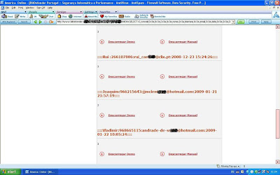 Shows the Admin userName, userPass, sessionID and lastlog