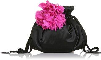 Lanvin Satin Pompom Pouch Bag