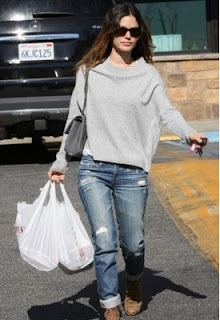Celebrity wearing Vkoo Cashmere featured by popular high end fashion blogger, A Few Goody Gumdrop