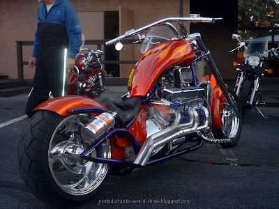 bike with big engines @ auto show