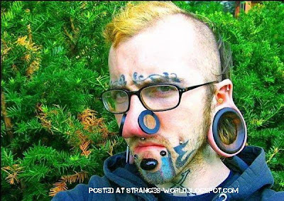 Horrible body piercing @ strange world