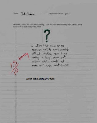Funny Exam Answer @ today's joke