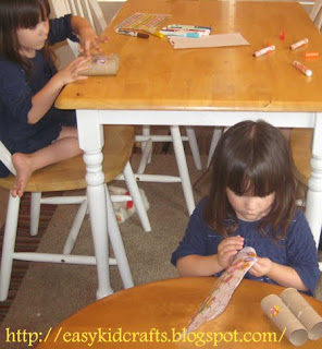 Easy Kids Crafts Blog Twins Gigi and BeBe crafting!