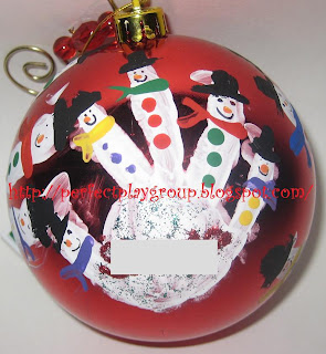 Hand Print Ornament Christmas kids keepsake